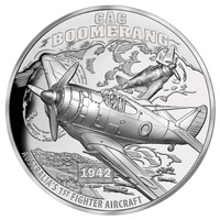 2017 $1 Boomerang Fighter Aircraft Ultra High Relief 1oz Silver Proof