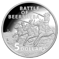 2017 $5 Battle Of Beersheba 1oz Fine Silver Proof