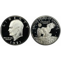 1971 US$1 Eisenhower Moon Landing Silver Proof Coin