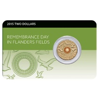 2015 $2 Remembrance Day Flanders Field Unc Pack