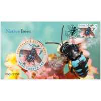 2019 Native Bees Stamp and Medallion Cover