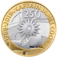 2019 £2 Captain Cook Silver Proof Coin 2nd in a 3 Coin Series