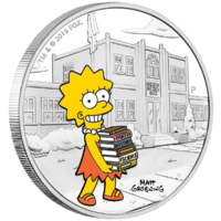 2019 TVD$1 The Simpsons Lisa 1oz Silver Proof