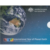 2008 Royal Australian Mint Uncirculated Mint Set International Year of Planet Earth