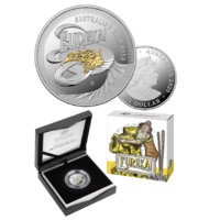 2020 $1 Eureka! Australia's Gold Rush Selectively Gold Plated Silver Proof Coin