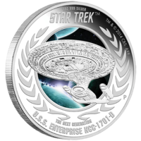 2015 $1 Star Trek USS Enterprise 1701D 1oz Silver Proof