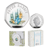 2020 50p Peter Rabbit Silver Proof Coin
