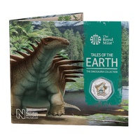 2020 50p Dinosauria - Hylaeosaurus Coloured BU Coin