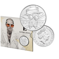 2020 £5 Elton John Brilliant UNC Coin