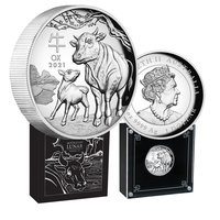 2021 $1 Year of the Ox 1oz High Relief Silver Coin