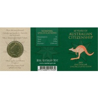 2009 $1 60 Years of Aust Citizenship 'C' Mintmark