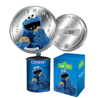 2021 $5 Cookie Monster 1oz Silver Proof Coin
