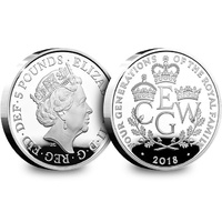 2018 £5 Four Generations Silver Proof Coin