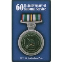 2011 50c 60th Anniversary of National Service