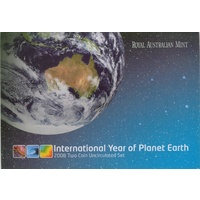 2008 International Year of the Planet Two Coin Set