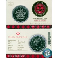 2013 50c 60th Anniversary of the Coronation of QEII