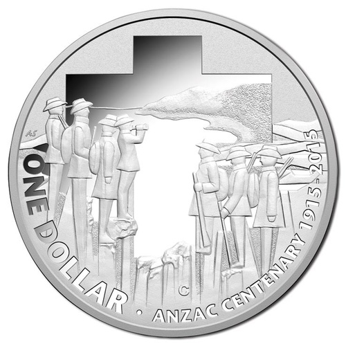 2015 $1 Centenary of ANZAC Silver Proof Coin