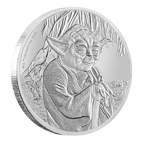 2016 $2 Star Wars Classic: Yoda 1 Oz Silver Proof Coin