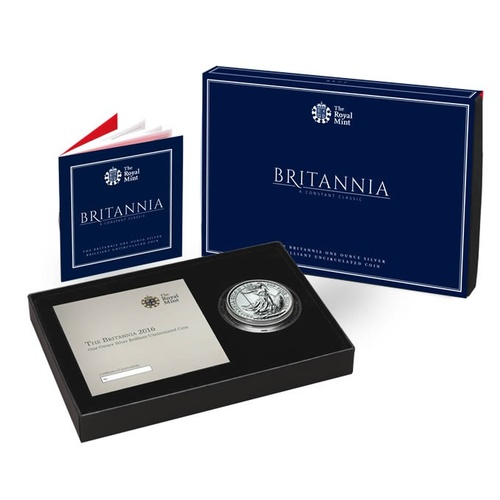 2016 UK Britannia 1oz Silver Brilliant Uncirculated Coin
