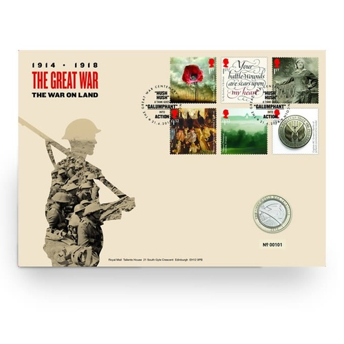 2016 UK £2 Great War The War on Land PNC