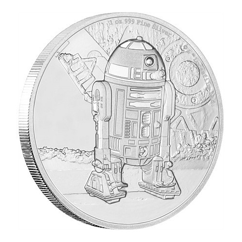 2016 Niue $2 Star Wars  R2-D2 1oz Silver Proof Coin