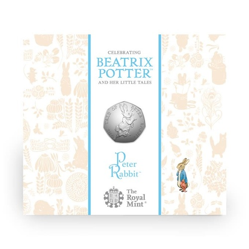 2017 50p Peter Rabbit BU