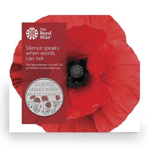 2017 £5 Remembrance Day BU Coin