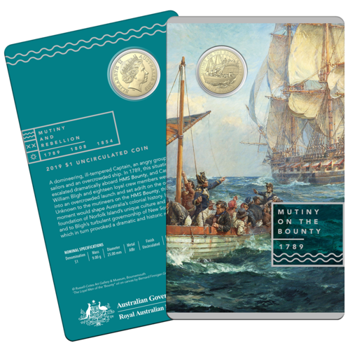 2019 $1 Mutiny On The Bounty UNC Coin