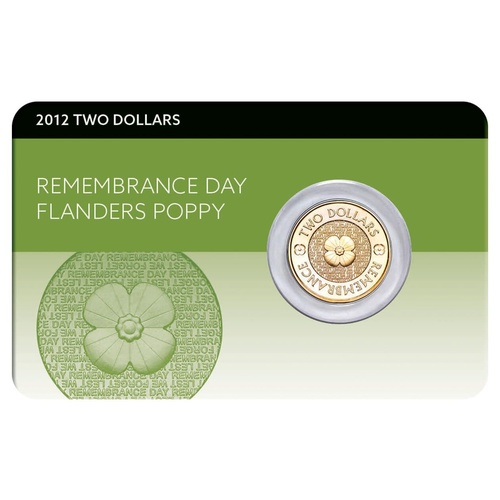 2012 $2 Poppy UNC Coin Pack (uncoloured)