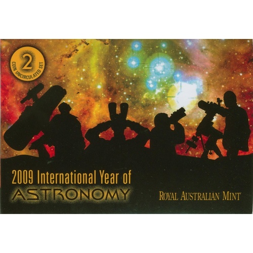2009 International Year of Astronomy Uncirculated 2 Coin set