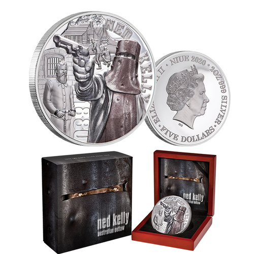 2020 $5 Ned Kelly Ultra High Relief 2oz Silver Proof