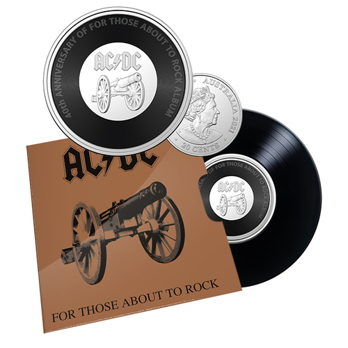 2021 20c AC/DC For Those About To Rock Coloured UNC Coin