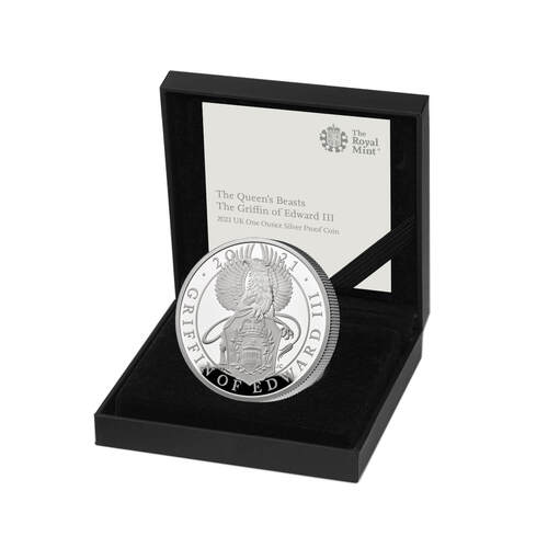 2021 £2 Queen's Beasts the Griffin of Edward III Silver Proof Coin