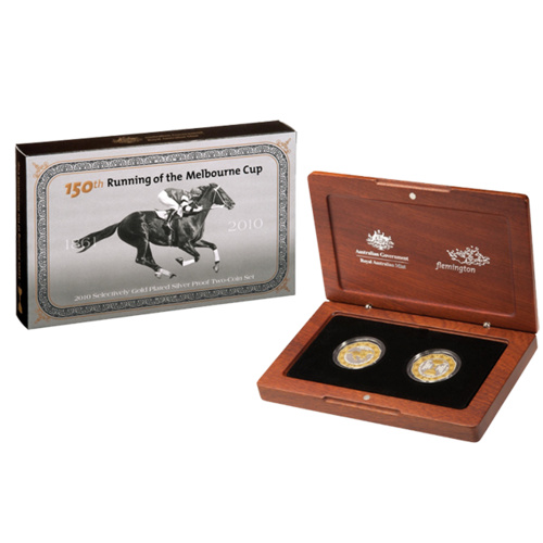 2010 150th Running of the Melbourne Cup  2 Coin Silver Proof Set